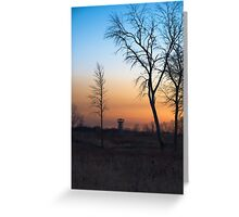 Sunset at the Tower Preserve Greeting Card