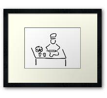 confectioner pastry cook Framed Print