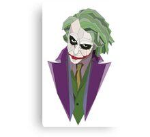 Geometric Joker Transparent Canvas Print