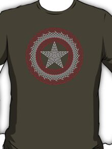 Celtic Captain America Black outline with red/white fill T-Shirt
