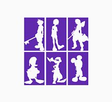 Kingdom Hearts - Character Roster (Purple) Unisex T-Shirt