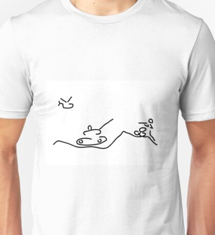 war with helicopter tank and gun shooter Unisex T-Shirt