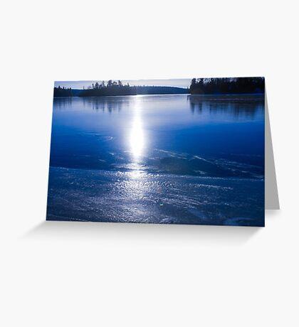 Freezing Up Greeting Card