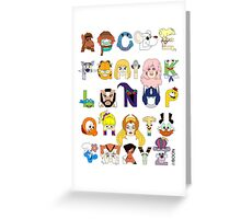 Child of the 80s Alphabet Greeting Card