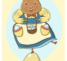 Easter Bunny Greeting Card by TsipiLevin
