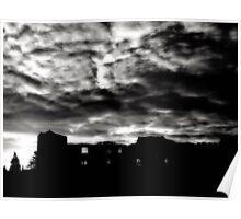 """Eerie Skies Over Newark Castle"" Poster"