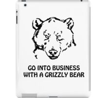 Go into business with a grizzly bear iPad Case/Skin