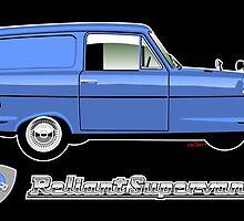 Reliant Supervan II blue by car2oonz