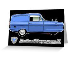 Reliant Supervan II blue Greeting Card