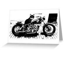 Biker Cat Fun Merchandise Greeting Card