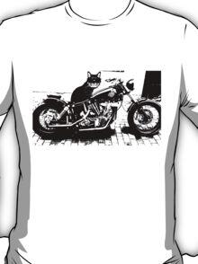 Biker Cat Fun Merchandise T-Shirt