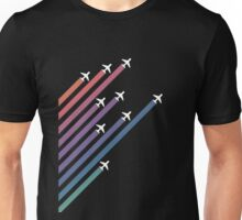 Airplanes and Gradients Unisex T-Shirt