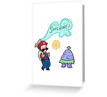 Super Mario Sunshine Greeting Card