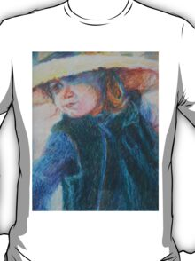 Big Hat - A Girl In A Blue Outfit T-Shirt
