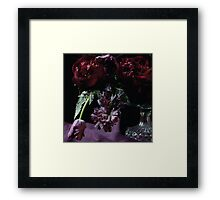 A Romance with Burgundy  Framed Print