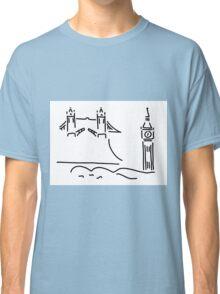 London tower bridge big ben Classic T-Shirt