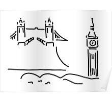 London tower bridge big ben Poster