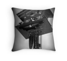 Clock Upon the Wall - Holga Throw Pillow