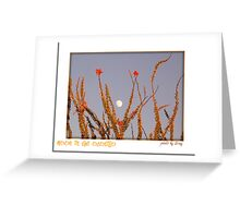 Moon in the Ocotillo Greeting Card
