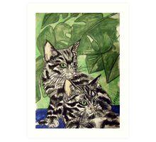 Tabby Kittens Art Print