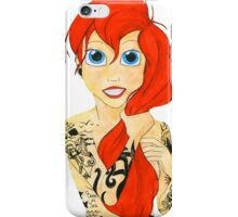 Tattooed Ariel (cutout) - red hair iPhone Case/Skin
