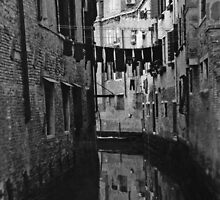 Back Street Canal - Venice  by Carl Gaynor