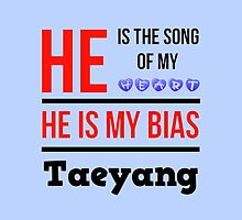HE IS MY BIAS LIGHT BLUE - TAEYANG by Kpop Love