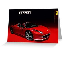 Red ferrari convertible Greeting Card