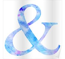 Watercolor Ampersand & Poster
