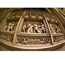 Wall Carving from St Patricks Cathedral - New York City Photographic Print