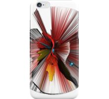 Consciousness of the Inanimate painting as a Spherical Depth Map. 3 iPhone Case/Skin