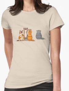 Cat's singalong Womens Fitted T-Shirt