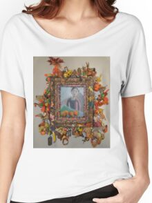 Levitating Oranges Of Borneo - Framed Women's Relaxed Fit T-Shirt