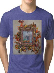 Levitating Oranges Of Borneo - Framed Tri-blend T-Shirt