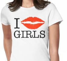 i kiss girls Womens Fitted T-Shirt