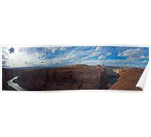 Glen Canyon Dam and the Colorado River - Panorama Poster