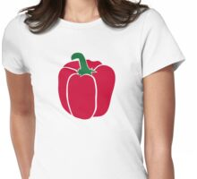 Red bell pepper Womens Fitted T-Shirt