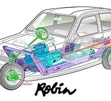 Reliant Robin cut-away by car2oonz