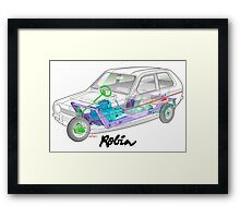 Reliant Robin cut-away Framed Print