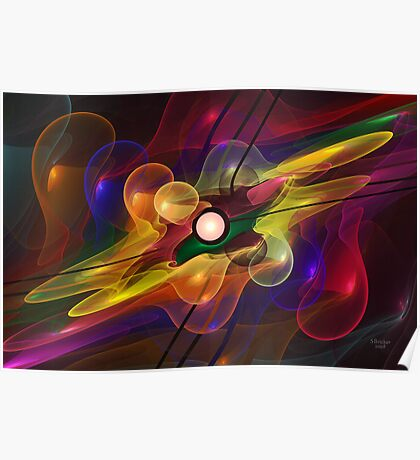 'Light Flame Abstract 228' Poster