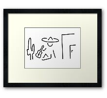 Mexican South America sombrero Framed Print