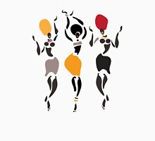 African dancers silhouette. Unisex T-Shirt