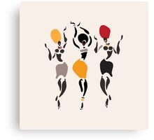 African dancers silhouette. Canvas Print