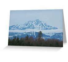 Cloud Scarf Around The Olympic Mountains Greeting Card