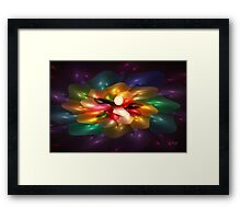 'Light Flame Abstract 251' Framed Print