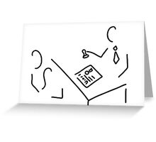 notary public lawyer Greeting Card