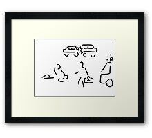 emergency doctor Framed Print