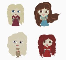 Women of Westeros Sticker set 01 by Alice Edwards
