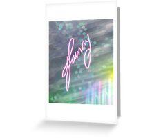 Signed Bokeh Effect Series Greeting Card