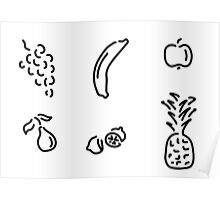 fruit fruits Poster
